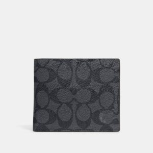 Fashion Runway Coach 3-In-1 Wallet In Signature Canvas