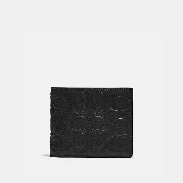 Fashion Runway Coach 3-In-1 Wallet In Signature Leather