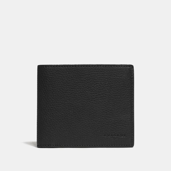 Fashion Runway Coach 3-In-1 Wallet With Signature Canvas Detail