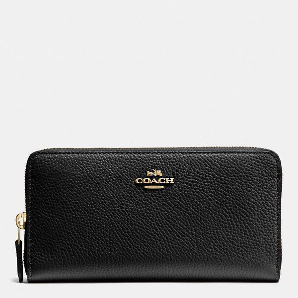Fashion Runway Coach Accordion Zip Wallet