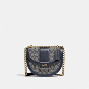 Fashion Runway Coach Alie Saddle Bag In Signature Jacquard