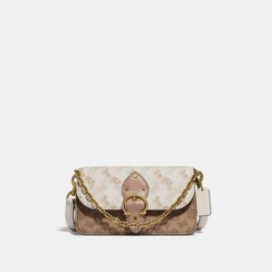 Fashion Runway Coach Beat Crossbody Clutch In Signature Canvas With Horse And Carriage Print