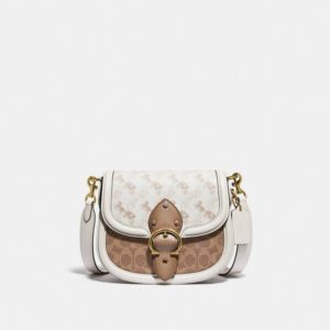 Fashion Runway Coach Beat Saddle Bag With Horse And Carriage Print