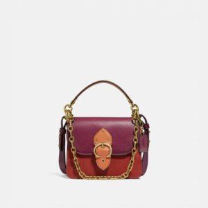 Fashion Runway Coach Beat Shoulder Bag 18 In Colorblock