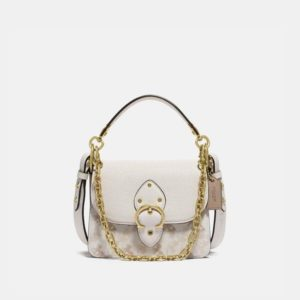 Fashion Runway Coach Beat Shoulder Bag 18 With Horse And Carriage Print