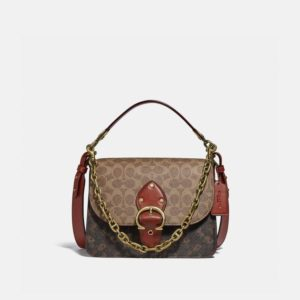 Fashion Runway Coach Beat Shoulder Bag In Signature Canvas With Horse And Carriage Print