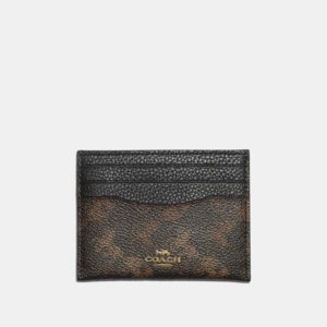 Fashion Runway Coach Card Case With Horse And Carriage Print