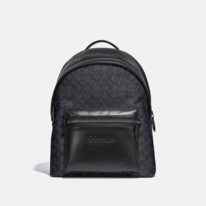 Fashion Runway Coach Charter Backpack In Signature Canvas