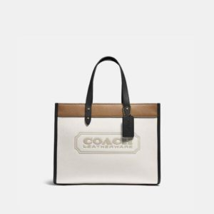 Fashion Runway Coach Field Tote 30 In Colorblock With Coach Badge