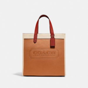 Fashion Runway Coach Field Tote In Colorblock With Coach Badge