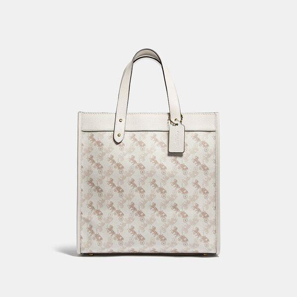 Fashion Runway Coach Field Tote With Horse And Carriage Print