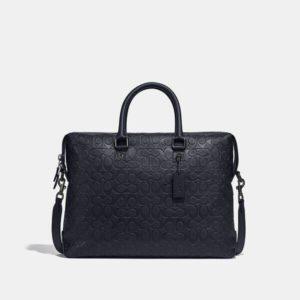 Fashion Runway Coach Gotham Brief In Signature Leather
