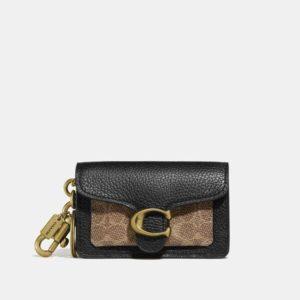 Fashion Runway Coach Mini Tabby Bag Charm In Signature Canvas