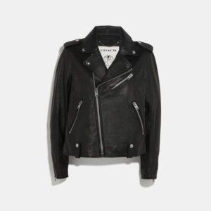 Fashion Runway Coach Moto Jacket