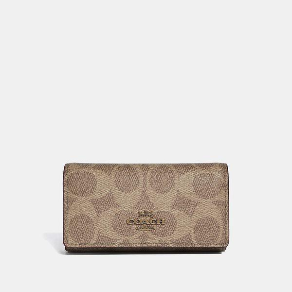 Fashion Runway Coach Six Ring Key Case In Signature Canvas