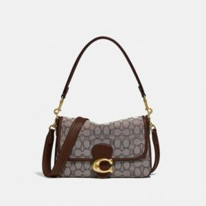Fashion Runway Coach Soft Tabby Shoulder Bag In Signature Jacquard