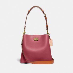 Fashion Runway Coach Willow Bucket Bag In Colorblock