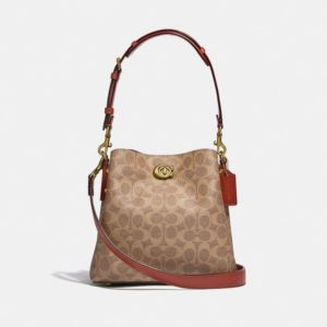 Fashion Runway Coach Willow Bucket Bag In Signature Canvas
