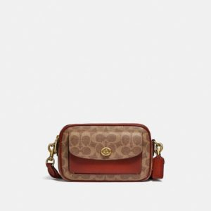 Fashion Runway Coach Willow Camera Bag In Signature Canvas