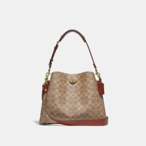 Fashion Runway Coach Willow Shoulder Bag In Signature Canvas