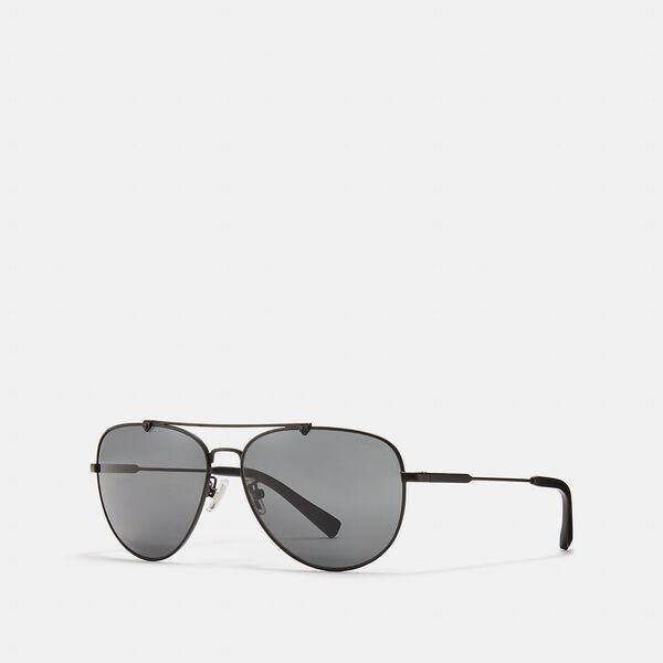 Fashion Runway Coach Wire Frame Pilot Sunglasses
