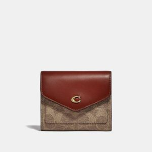 Fashion Runway Coach Wyn Small Wallet In Colorblock Signature Canvas