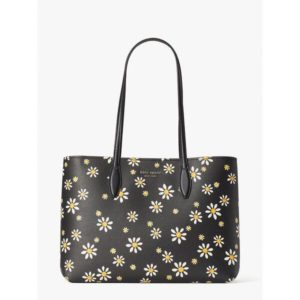 Fashion Runway - all day daisy dots large tote