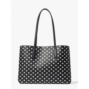 Fashion Runway - all day domino dot large tote
