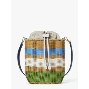 Fashion Runway - buoy wicker medium bucket bag