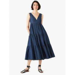 Fashion Runway - chambray vineyard midi dress