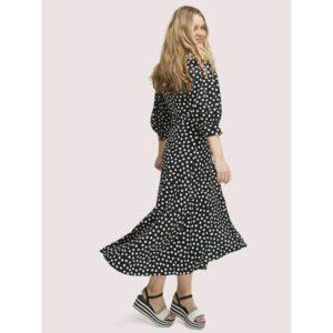 Fashion Runway - cloud dot wrap dress