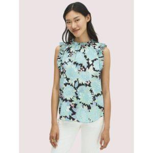 Fashion Runway - dahlia bloom shell top