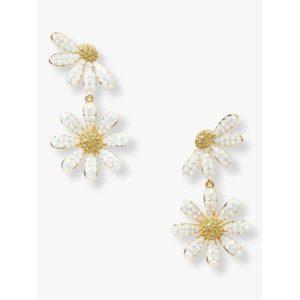 Fashion Runway - dazzling daisy drop earrings