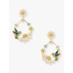 Fashion Runway - dazzling daisy hummingbird statement hoops