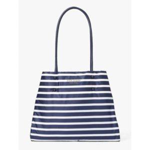 Fashion Runway - everything puffy sailing stripe large tote