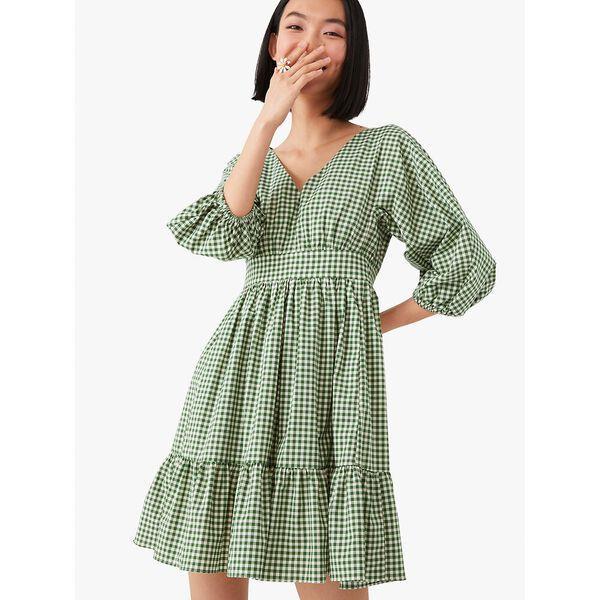 Fashion Runway - mini gingham bodega dress