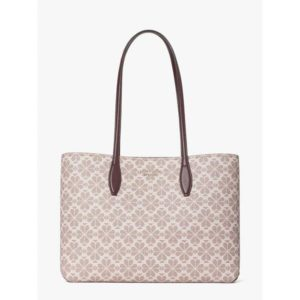 Fashion Runway - spade flower coated canvas all day large tote