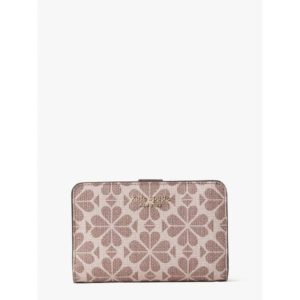 Fashion Runway - spade flower coated canvas compact wallet