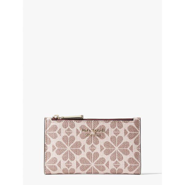 Fashion Runway - spade flower coated canvas small slim bifold wallet