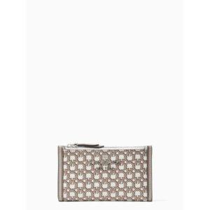 Fashion Runway - spade link small slim bifold wallet