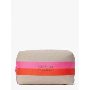 Fashion Runway - stripe logo canvas large cosmetic case
